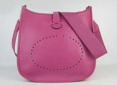 Genuine leather Togo handbags $149- (dark pink)