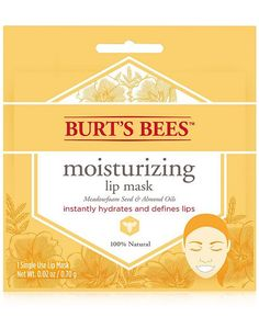 Burt's Bees Moisturizing Lip Mask instantly hydrates and defines lips, leaving them soft and smooth. Mask Online, Lip Mask, Moisturizer With Spf, Wash Your Face, Burts Bees, Eyeshadow Makeup, Good Skin, Tricks, Beauty Makeup
