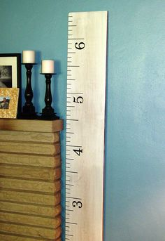 White Washed Ruler Growth Chart. $55.00, via Etsy.
