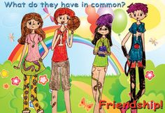 """What Do They Have In Common? Friendship.""  Camila C.; 5th Grade  Tuttle Elementary School Sarasota, Florida"