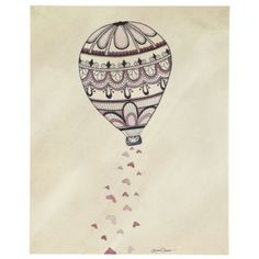 Rain Balloon Poster Decal  | The Land of Nod
