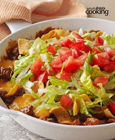 Cheesy Beef-Corn Chip Skillet #recipe