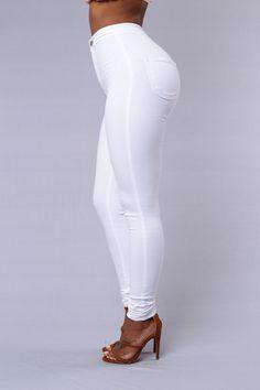 High Waist Skinny Jeans - White