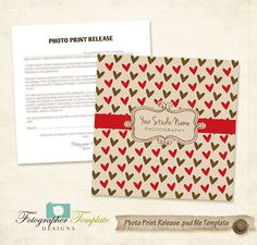Photography Release Template CD DVD Print Release Photoshop Templates - A707