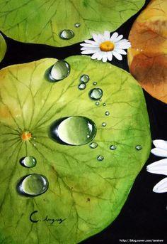Lotus Flowers-Original Watercolor Painting-Pink Lotus With Koi Painting, Stone Painting, Watercolour Painting, Watercolor Flowers, Color Pencil Art, Pastel Art, Watercolor Landscape, Art Techniques, Painted Rocks