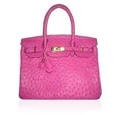 A pink Hermes Birkin......love.