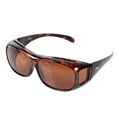 ff2d283400 Yodo Solar Shield Fits-Over Sunglasses with Polarized Lenses for Women -  Leopard