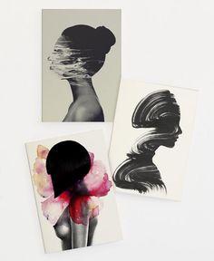 Women Set als Grußkarten-Set von Andreas Lie | JUNIQE  https://www.juniqe.de/women-set-grusskarten-set-1119319.html