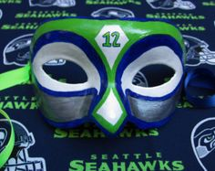 Seahawks+mask | Seahawks #12 Fan Mask, Go Hawks!