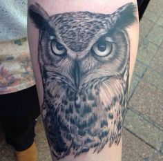 Latest. Inside of forearm. Owl tattoo.