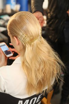 Beauty Trends Spotted Backstage at #NYFW - bobby pins!