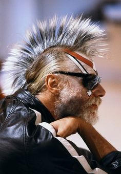 Georges Moustaki Dressed as Punk