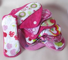 The Pinks   Stash builder cloth pads set of by MariposasClothPads, $48.00