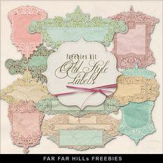 Far Far Hill--Freebies Kit of Romantic Labels