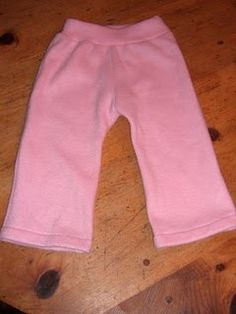 Easy up and down pants with free pattern and instructions (fleece longies pattern for cloth diapering?)