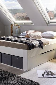 9ae2ae88f3d6 Bett mit extra Stauraum. Ideal für kleine Räume.  rauchmöbel   wohnenuntermdach  stauraum