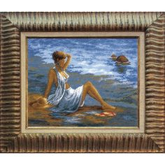 Girl At The Sea - Cross Stitch Kit with Color Symbolic Scheme