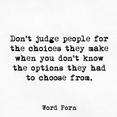 For all the judge-y people out there