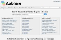 Welcome to iCalShare Holiday Calendar, Game Character, Being Used, Desktop, Website, Learning, Free, Teaching, Education