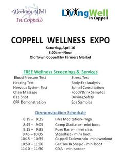 Coppell Wellness Day is Saturday, April 16!