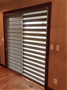 Good Illusion Shades On Patio Doors Are A More Sleek Alternative To Vertical  Blinds! #patiodoor