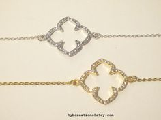 Clover Bracelet by TYBCreations on Etsy, $12.00