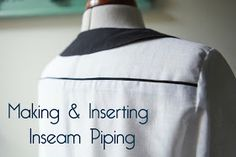 Jennifer Lauren Vintage: Tutorial - Making and Inserting Inseam Piping