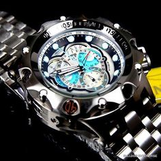 Invicta Reserve Venom Hybrid Master Calendar Silver Tone Blue Watch New 16803 in Jewelry & Watches, Watches, Parts & Accessories, Wristwatches Lux Watches, Seiko Watches, Sport Watches, Cool Watches, Watches For Men, Relogio Invicta Pro Diver, Expensive Watches, Watch Sale, Casio Watch