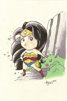 Mini Wonderwoman by *AgnesGarbowska on deviantART
