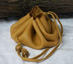 Handmade Deerskin Leather Belt Bag Civil War Pouch Reenactor Blackpowder