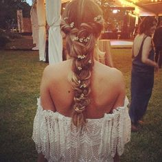 Amazing AMAZING fairytale bridal hair. Love this braid with flowers worked in. So perfect for an enchanted princess bride.
