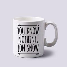 you know nothing jon snow game of thrones mug white 11 oz two sides ceramics