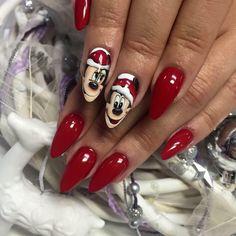 "Indigo Gel Arte Brillante ""Beautiful Monster""  by Magdalena Żuk, Indigo Educator Poland #Nail #Nailsart #indigo #christmas #red"