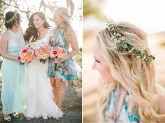 Mint & Peach Wedding Colors |  Malibu Hilltop Wedding | Josh Elliott Photography | Sugar Branch Events
