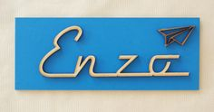 Plaque Enzo avec Petit Avion