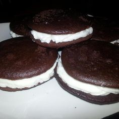 If you're from Pennsylvania, you will definitely know what a Whoopie Pie. My grandma's family is from Pa., and this recipe has been passed down a few generations now. Fresh, & home made, just the way I like em!  Stick em in the freezer for a nice cold treat in the summer!  Hope you enjoy!
