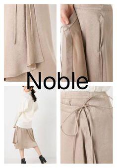 e4d3f020cfc579 Noble Spick & Span スピックアンドスパン ノーブルスウェードサテンラップスカート 新品_画像3