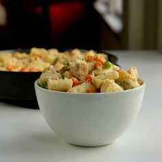 Chicken Pot Pie Gnocchi - a fun take on a comfort food classic! Pasta Recipes, Chicken Recipes, Cooking Recipes, Chicken Meals, Healthy Chicken, Cooking Tips, Gnocchi Dishes, Pasta Dishes, How To Cook Gnocchi