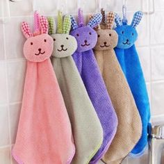 Cute Animal Hand Towel Cartoon Hanging Baby Face Kids Washcloth Bath Water Dry J Unisex China