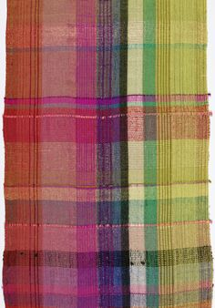 Dorothy Liebes | Mexican Plaid | wool + cotton + silk + synthetic + colored film coated foil | U.S.A. | c. 1938
