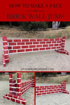 DIY Do It Yourself How To Make a Faux Brick Wall Cross Country or Stadium Horse Jump