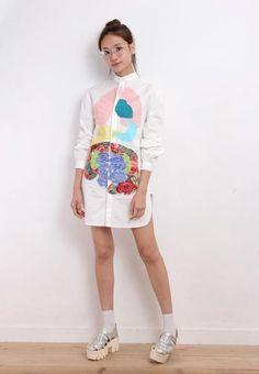 R1476 Organ Shirt Dress