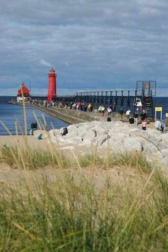 Grand Haven Lighthouse & Pier - Grand Haven, Michigan