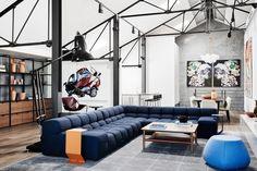 Australia :) Projekt pracowni We Are Huntly.  LOFT w starym magazynie, minimalistycznie inDUSTRIAlnie  ARTystycznie