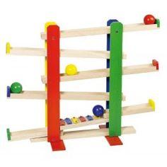 Toboggan à balles avec xylophone