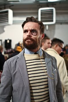 The Pop-Up Flea   Oliver Jeffers In Warby Parker Monocle — william yan