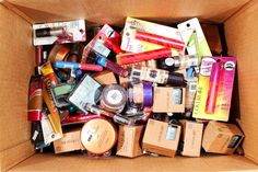 Mixed boxes of CoverGirl Cosmetics are available in lots of 250, for $1.75 per unit, 500, for $1.65 per unit and in 1000 units, at $1.50 per unit.