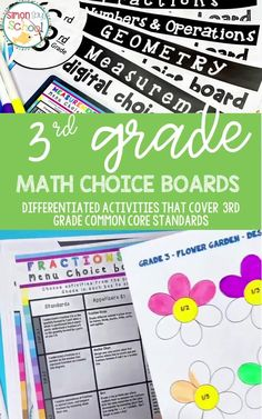 This 3rd grade common core math resource covers all common core math standards in a set of fun digital math activities. It covers important 3rd grade math skills like measurement, geometry and algebraic thinking. They are a great math resource for addressing common core standards while giving students choice for the math project that they complete. #3rdgrademath #3rdgrademathproject #mathactivities #3rdgradecommoncore