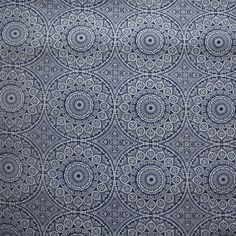 Blue Intricate Circle Shweshwe Fabric