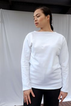 Guildo R Long Sleeve Cotton Top Saint James, Take That, Denim, Long Sleeve, Model, Sleeves, How To Wear, Cotton, Tops